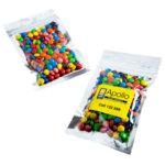 M&Ms Silver Zip Lock Bag 50 Grams