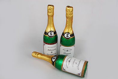 Standard foiled champagne bottle - large