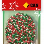 Giant Christmas Chocolate Freckle Card