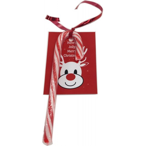 Candy Cane Card and Ribbon