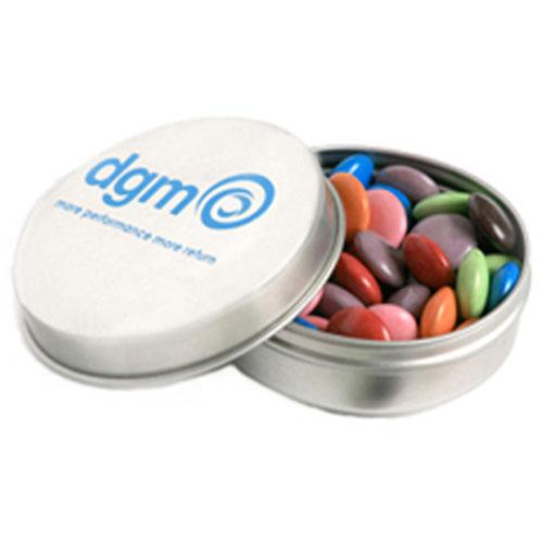 Choc Beans Round Tin
