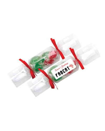 Clear Branded Christmas Crackers - Acid Drops