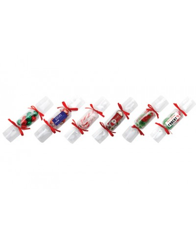 Clear Branded Christmas Crackers - Chocolate Stars