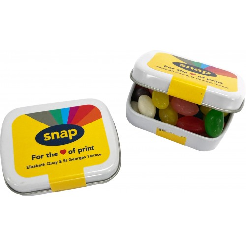 Jelly Beans Small Rectangle Tin