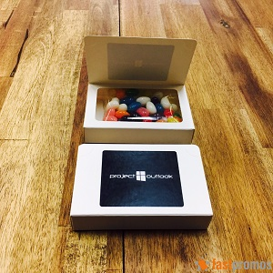 Biz Card Box with Jelly Beans