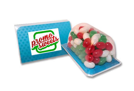 Christmas Mini Jelly Beans Biz Card Treat