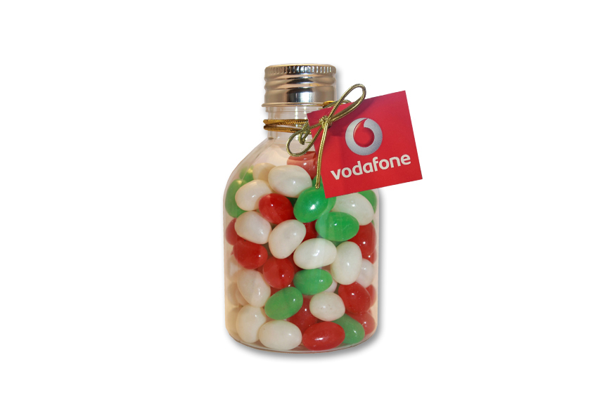 Christmas Mini Jelly Beans No Neck Bottle Swing Tag
