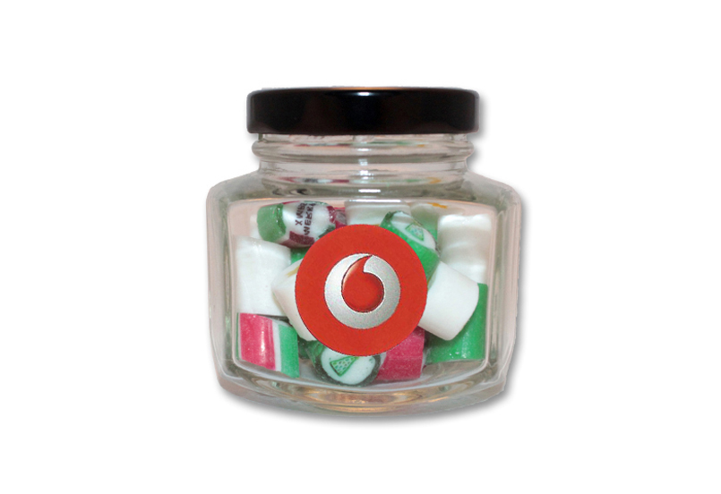 Christmas Rock Candy Hexagonal Jar