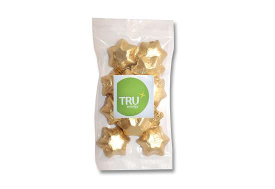 Gold Foiled Stars 100g Bag