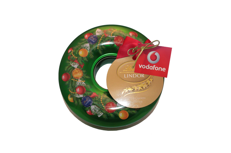 Lindt Assorted Small Christmas Wreath Tin
